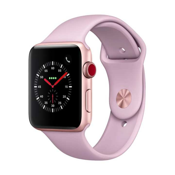 Apple Watch Series 3 GPS + Cellular, 42mm Gold Aluminium Case with Pink Sand Sport Band