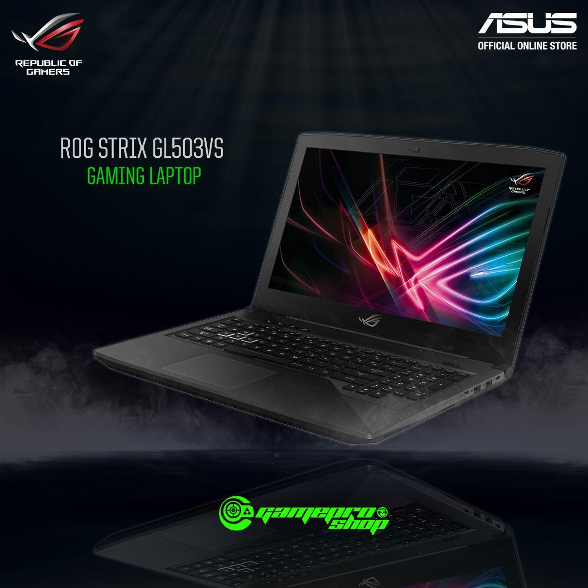Asus ROG Strix GL503VS – EI032T (I7-7700HQ/GTX1070 8GB/256GB SSD) 15.6″ With 144Hz *NDP PROMO*