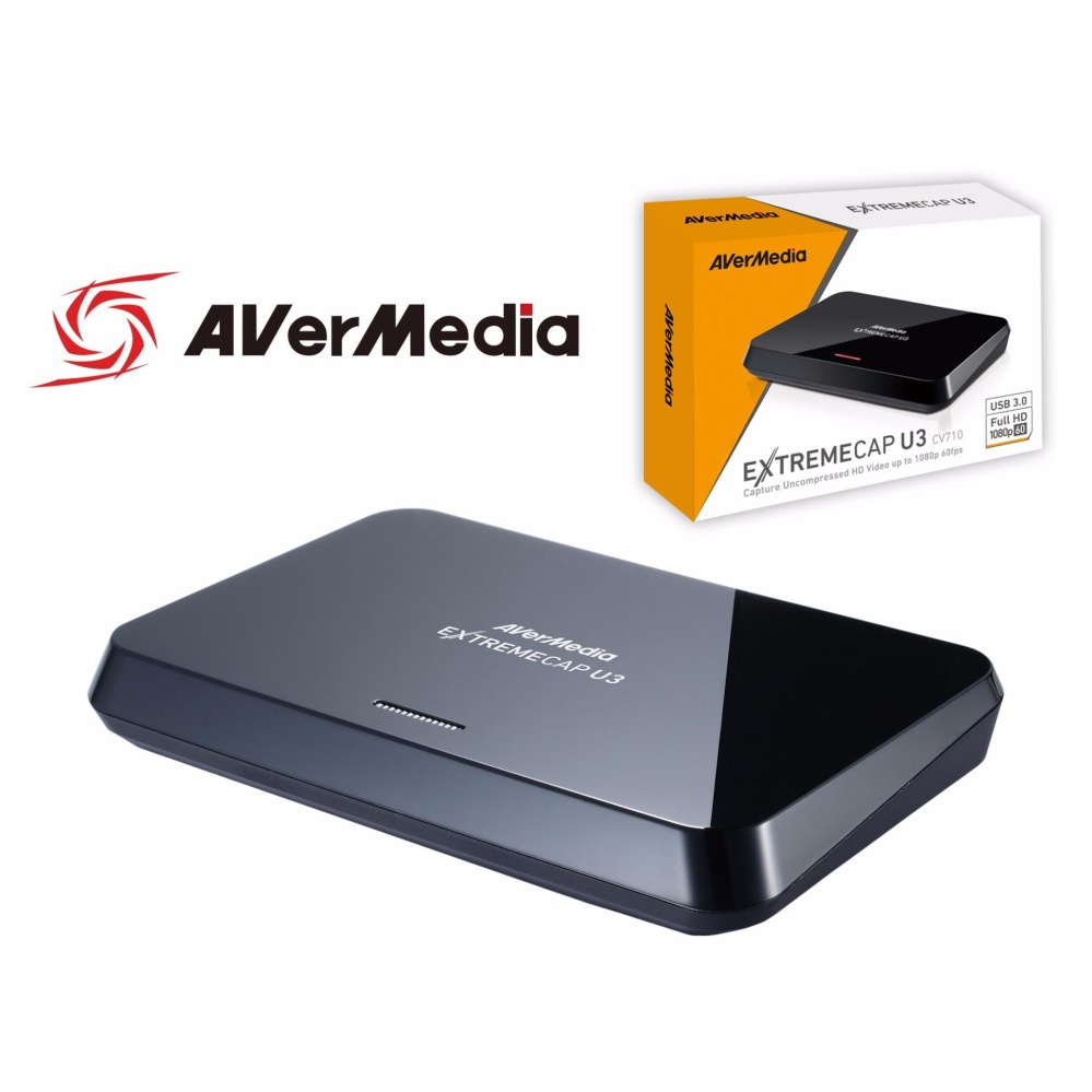 AVerMedia ExtremeCap U3 (CV710), Full HD USB VIdeo CApture Card, High Definition 1080p 60fps, Recorder, Ultra Low Latency, Win 10