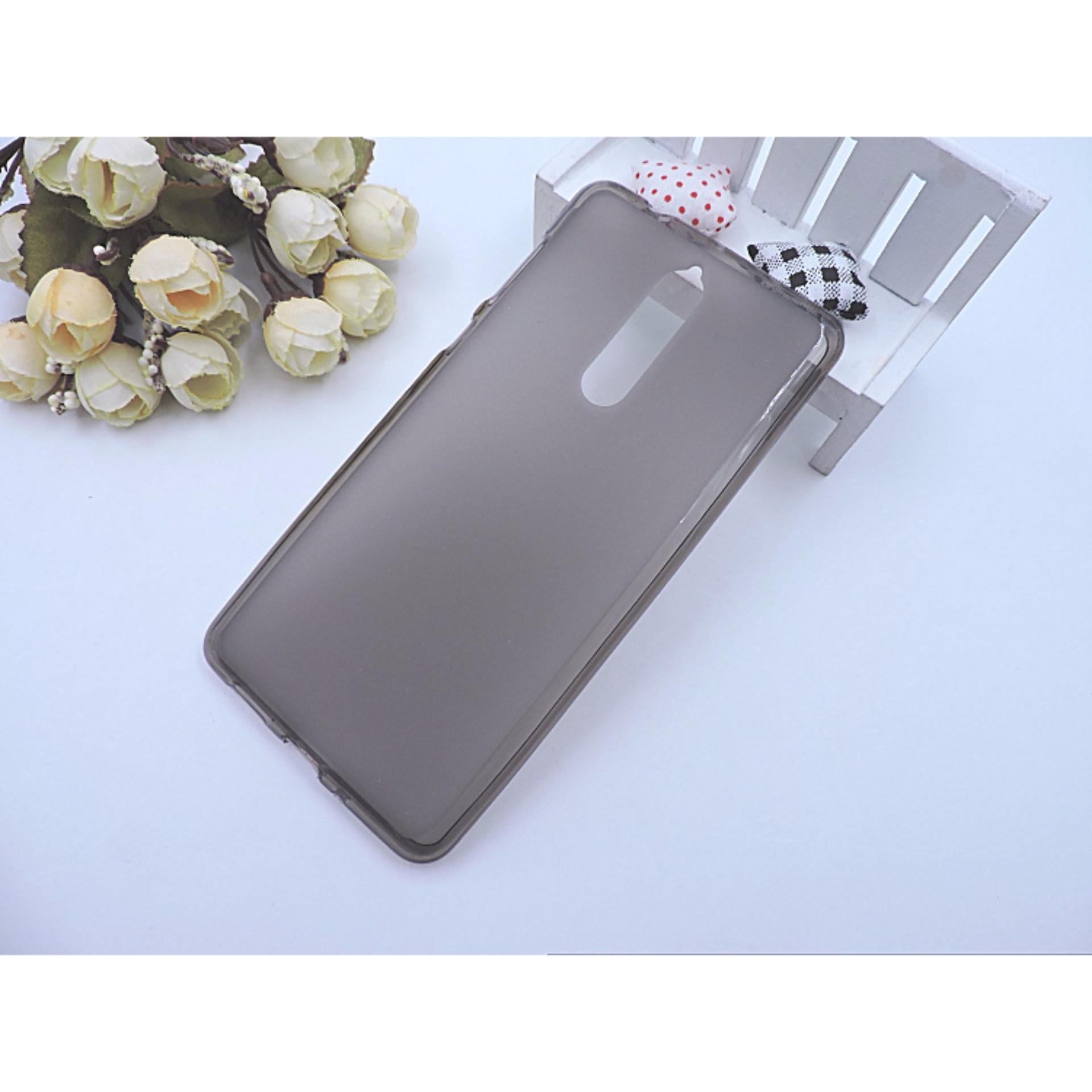 (Black) Nokia 8 Matte Luxury Transparent TPU Case Casing Cover