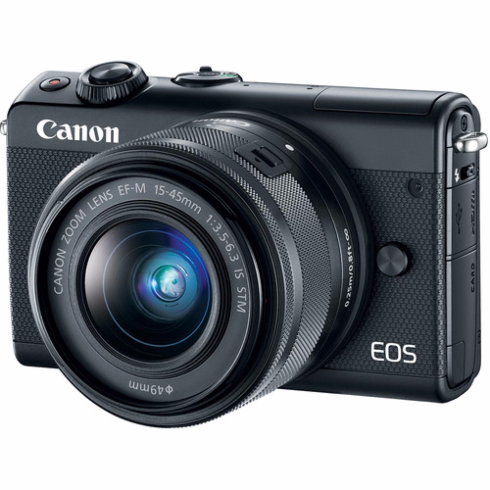 Canon EOS M100 15-45mm Kit (Black) (FREE 16GB SD Card)