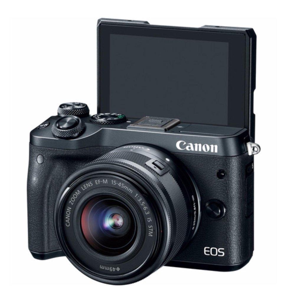 Canon EOS M6 Mirrorless Digital Camera with 15-45mm Lens (Black) Warranty