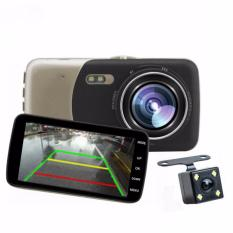 Car Camera High Definition Night Vision Car DVR Driving Recorder Professional Double Lens 4.0 Inch 1080P