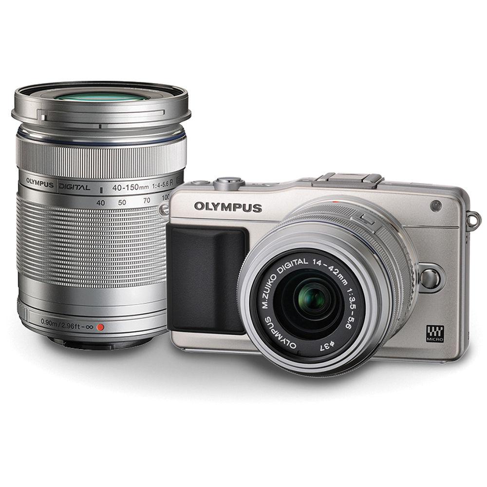 (Clearance Price) Olympus E-PL5 Kit (M. Zuiko 14-42mm F3.5-5.6 & 40-150mm F4-5.6) (Silver) (1 x 16GB SD Card)