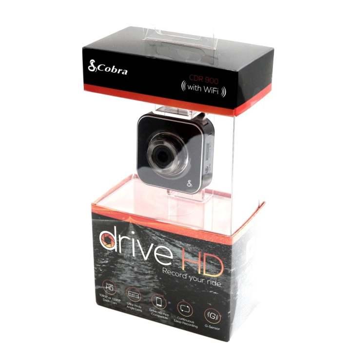 Cobra CDR 900 E – Car Dash Camera with Wi-Fi, Super HD 1296p