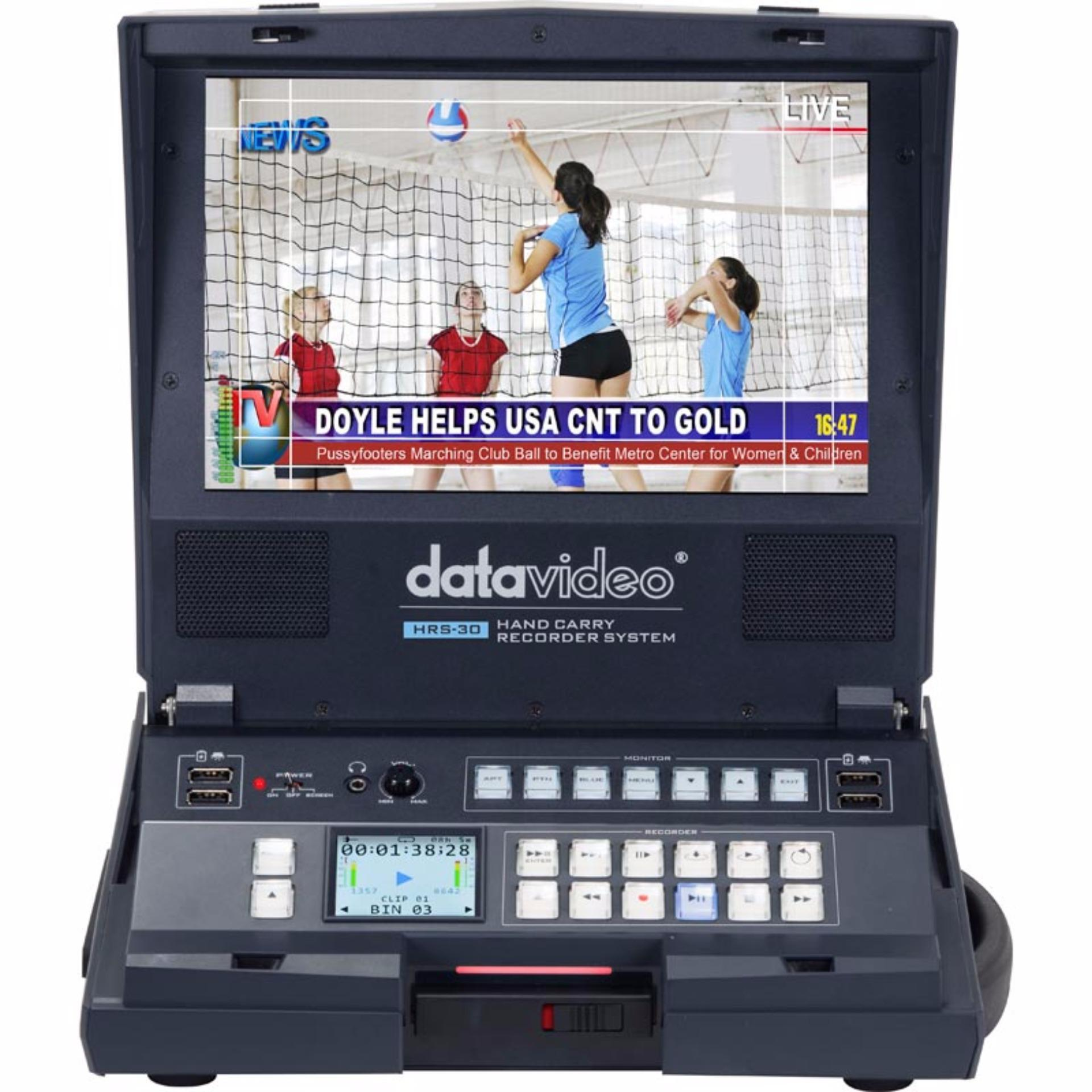 Datavideo HRS-30 Portable Hand Carried SD/HD-SDI Recorder with Built-In 10.1″ Monitor