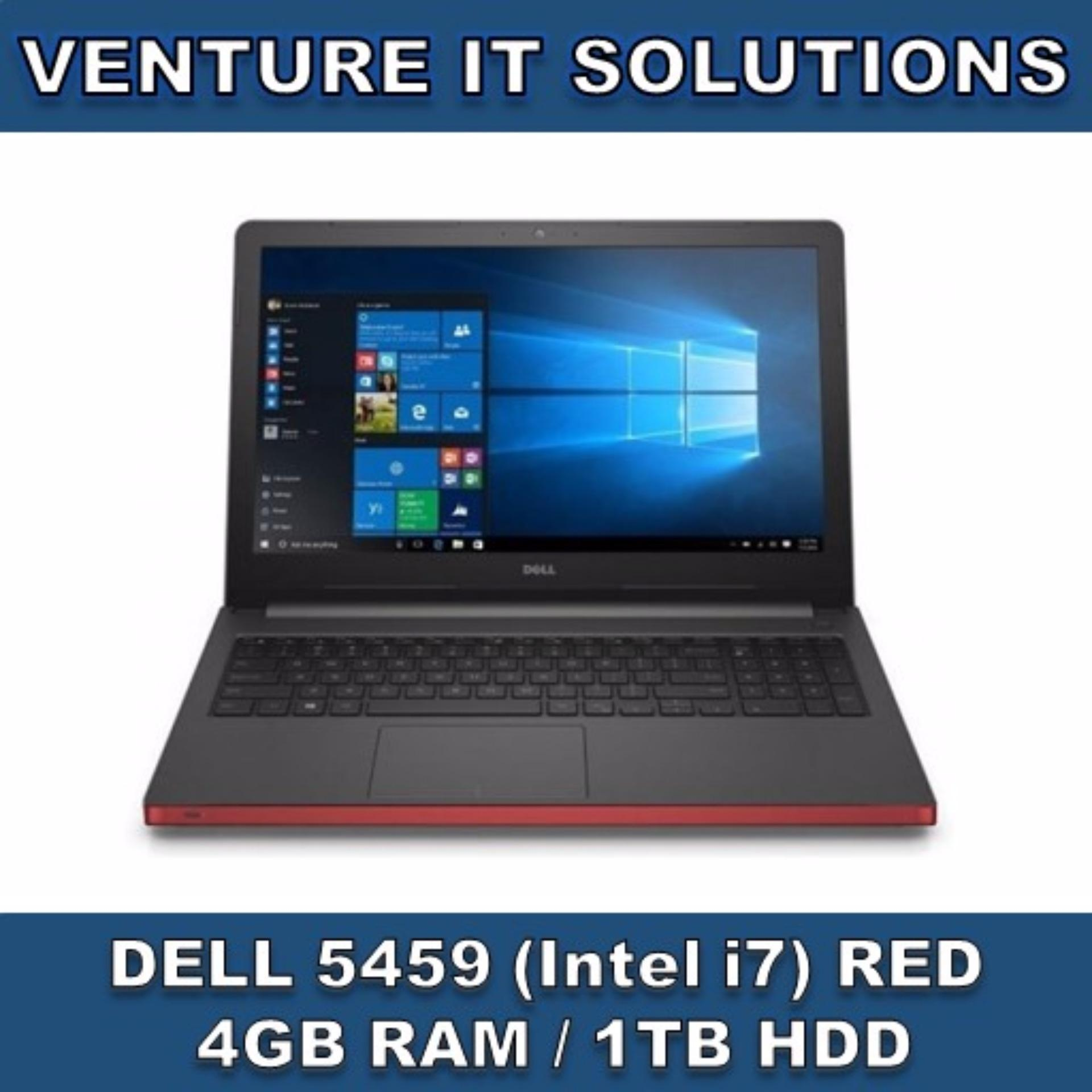 DELL 5459/ INTEL CORE I7-65002.5GHZ MAX 3.1 GHZ / 4GB RAM / 1TBHDD / 4GB RADEON GRAPHICS/ 14″HD LED DISPLAY/ WINDOWS 10