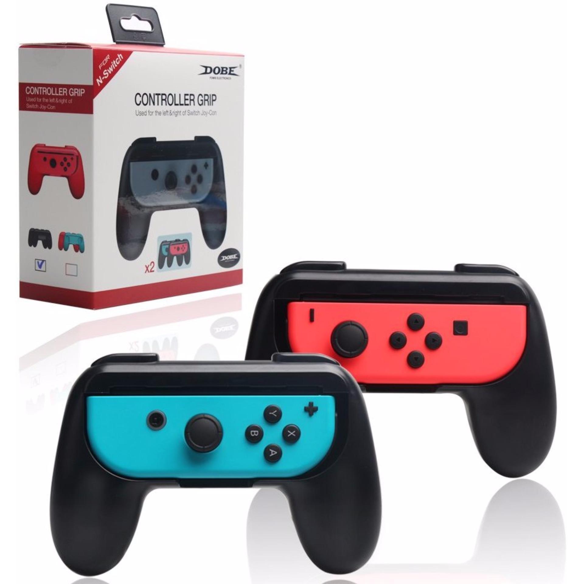(2-PACK) DOBE Joy-Con Grip Kit for Nintendo Switch , High Quality Wear-resistant Joy con Handle Holder for Nintendo Switch (Black+Black)