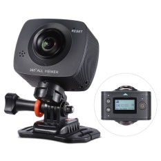 Dual-lens 360 Camera 1920*960P HD Panoramic VR Camera Camcoeder 8MP with 220 Degree Fish Eyes Lens Video Camera – intl