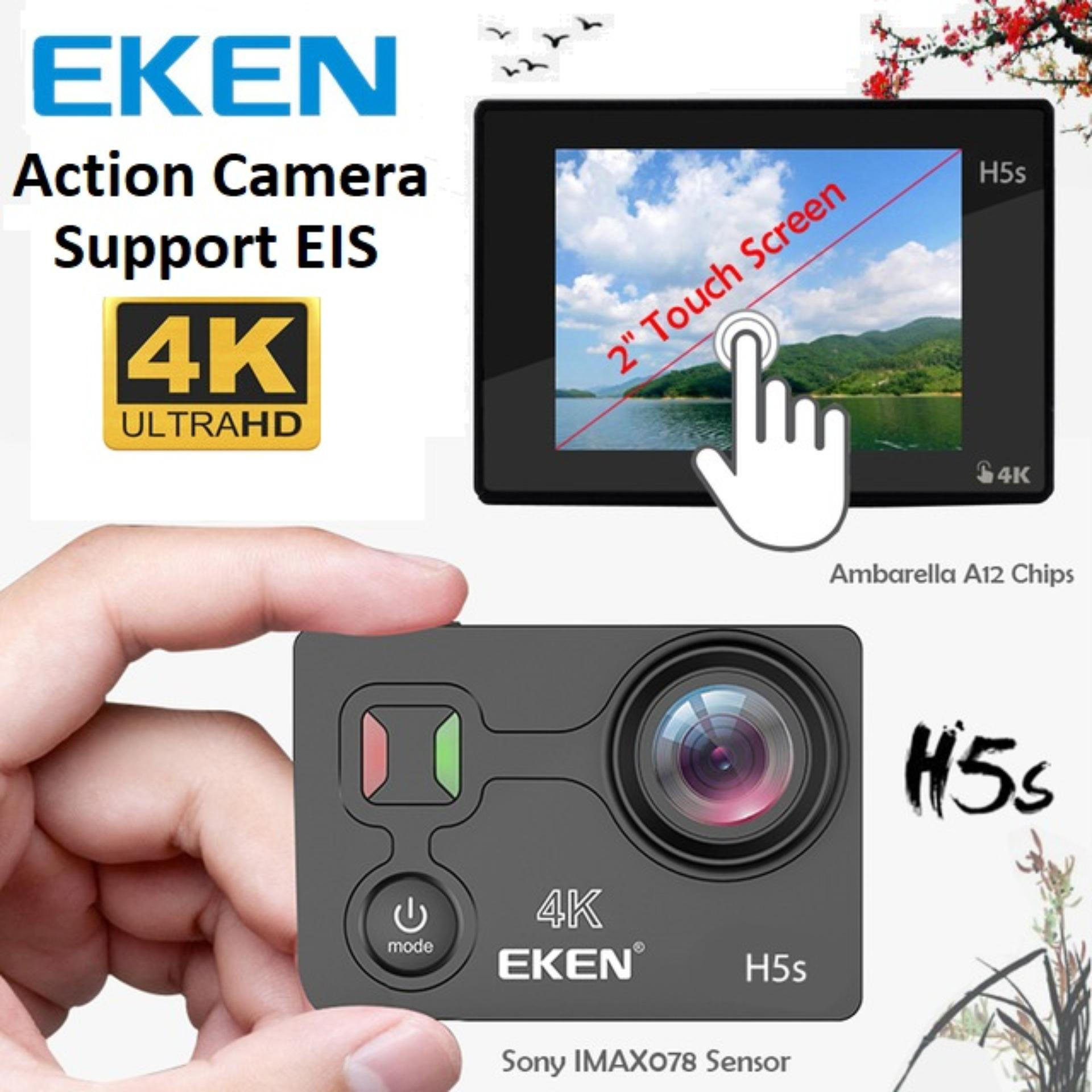 Eken H5S Action Camera Wide Angle 4K Ultra HD Touch Screen 2.0″ Display ElS Black