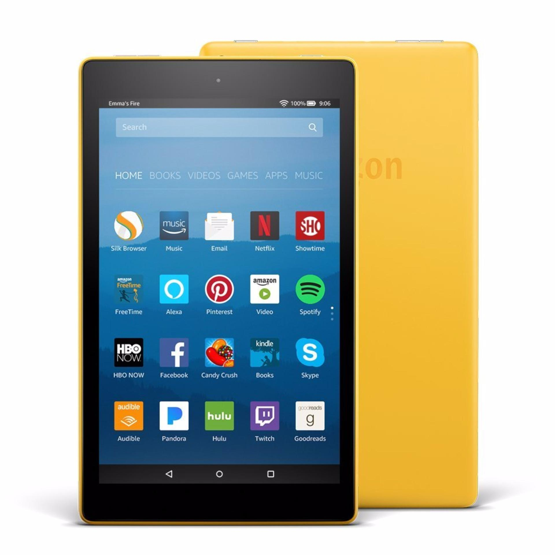 FIRE HD8 W/ALEXA 16GB YELLOW (FOR EXPORT)