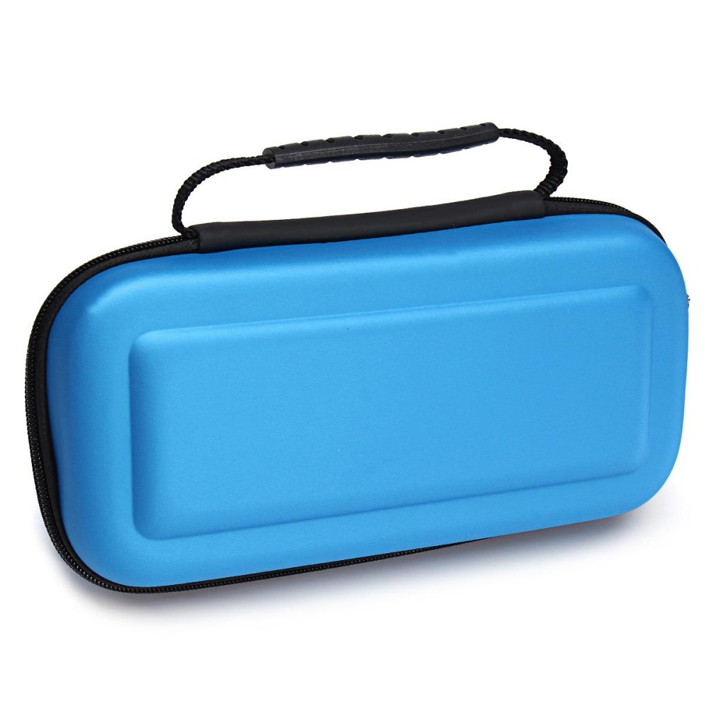 For Nintendo Switch Travel Bag Carry Case + Tempered Glass Screen Protector Film - Blue - intl