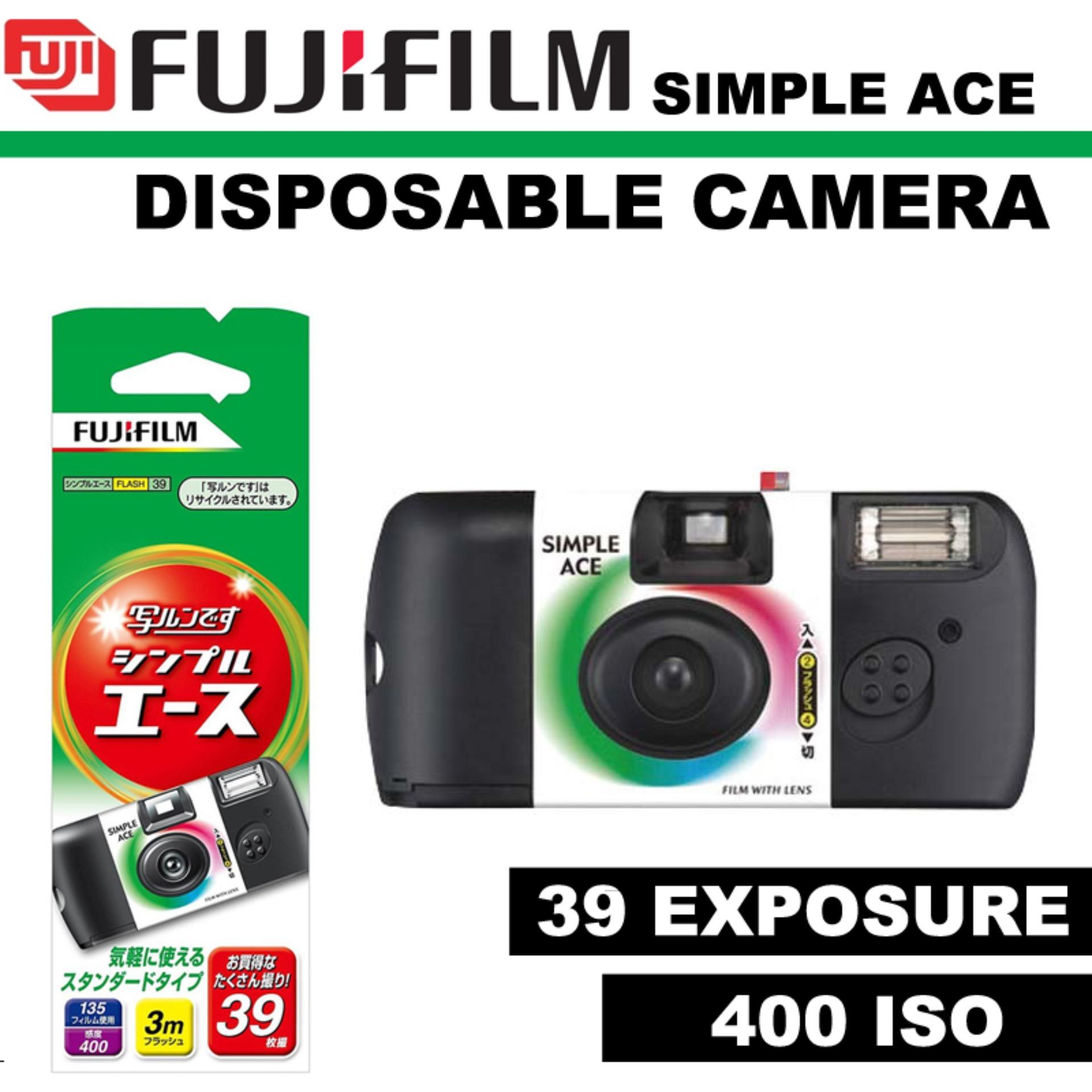 FUJIFILM 35mm Disposable Single Use Camera Simple Ace – ISO 400 – 35mm Disposable Camera