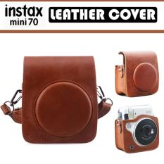 Fujifilm Instax Mini 70 Camera Brown Leather Cover Casing