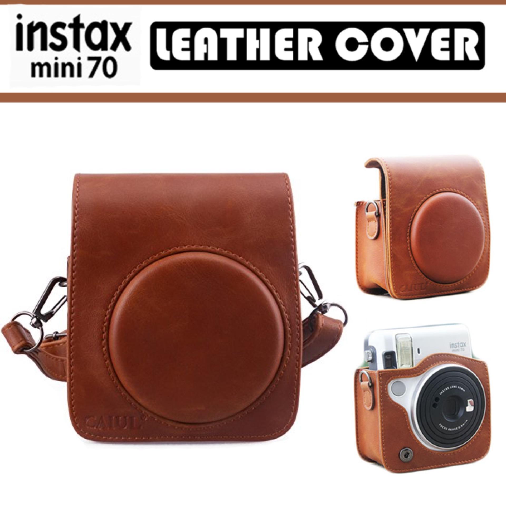 Fujifilm Instax Mini 70 Camera Brown Leather Cover Casing