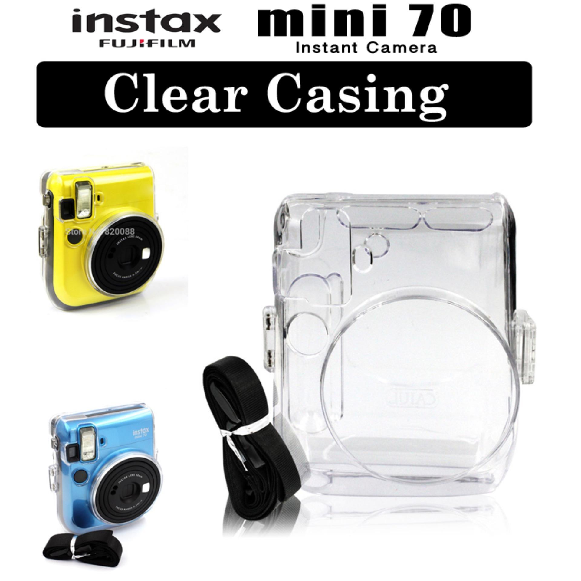 Fujifilm Instax Mini 70 Instant Camera Crystal Clear Casing