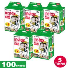 Fujifilm Instax Mini Plain Film 100 Sheets – 5 Twin Pack