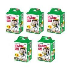Fujifilm Instax Mini Twin Pack Instant Film – 5 pack (100 sheets) for Fujifilm Instax Mini 7s, Mini 8, Mini 25, Mini 50S, and mini 90