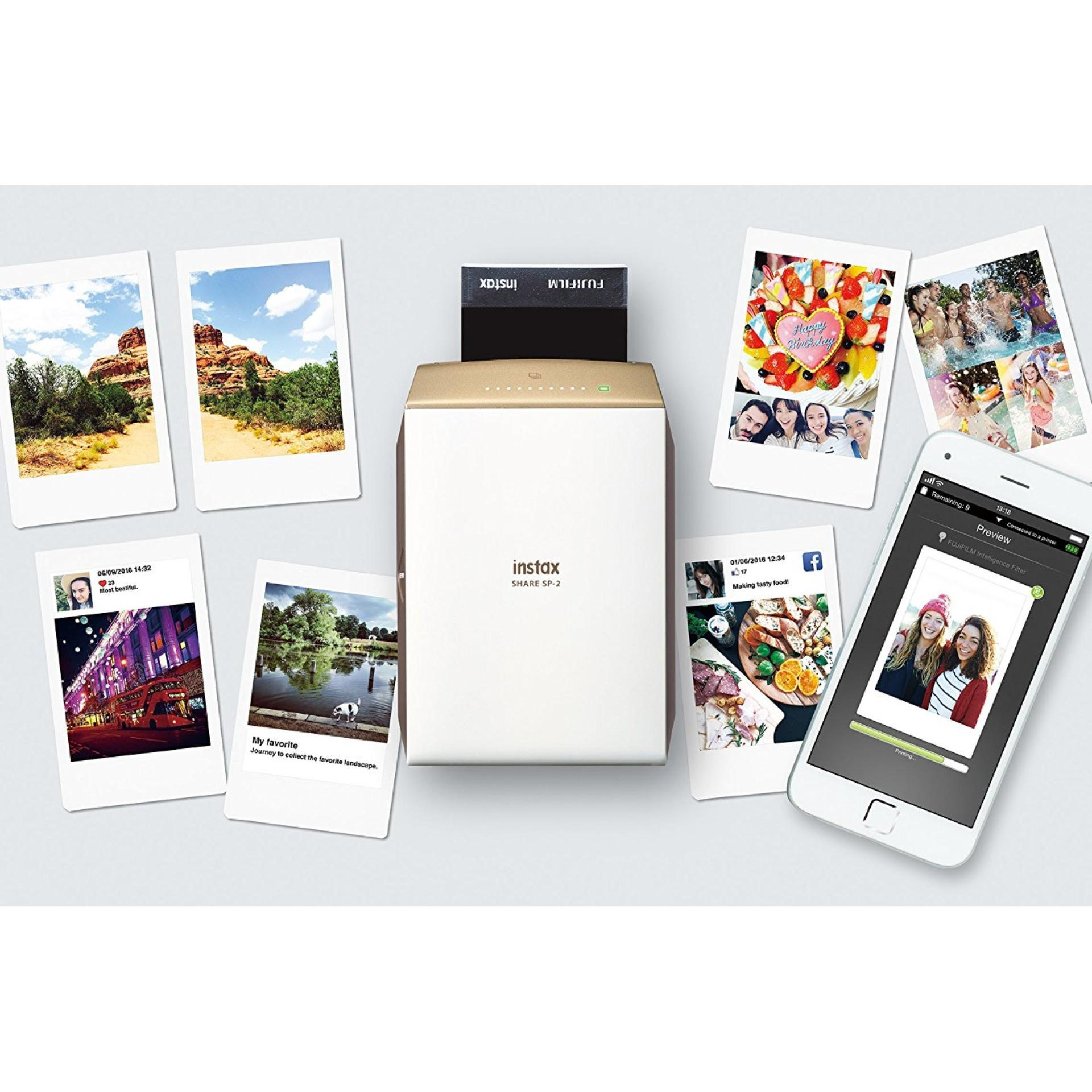 Fujifilm instax SHARE Smartphone Printer SP-2 with 1 pack of free film (assorted design)