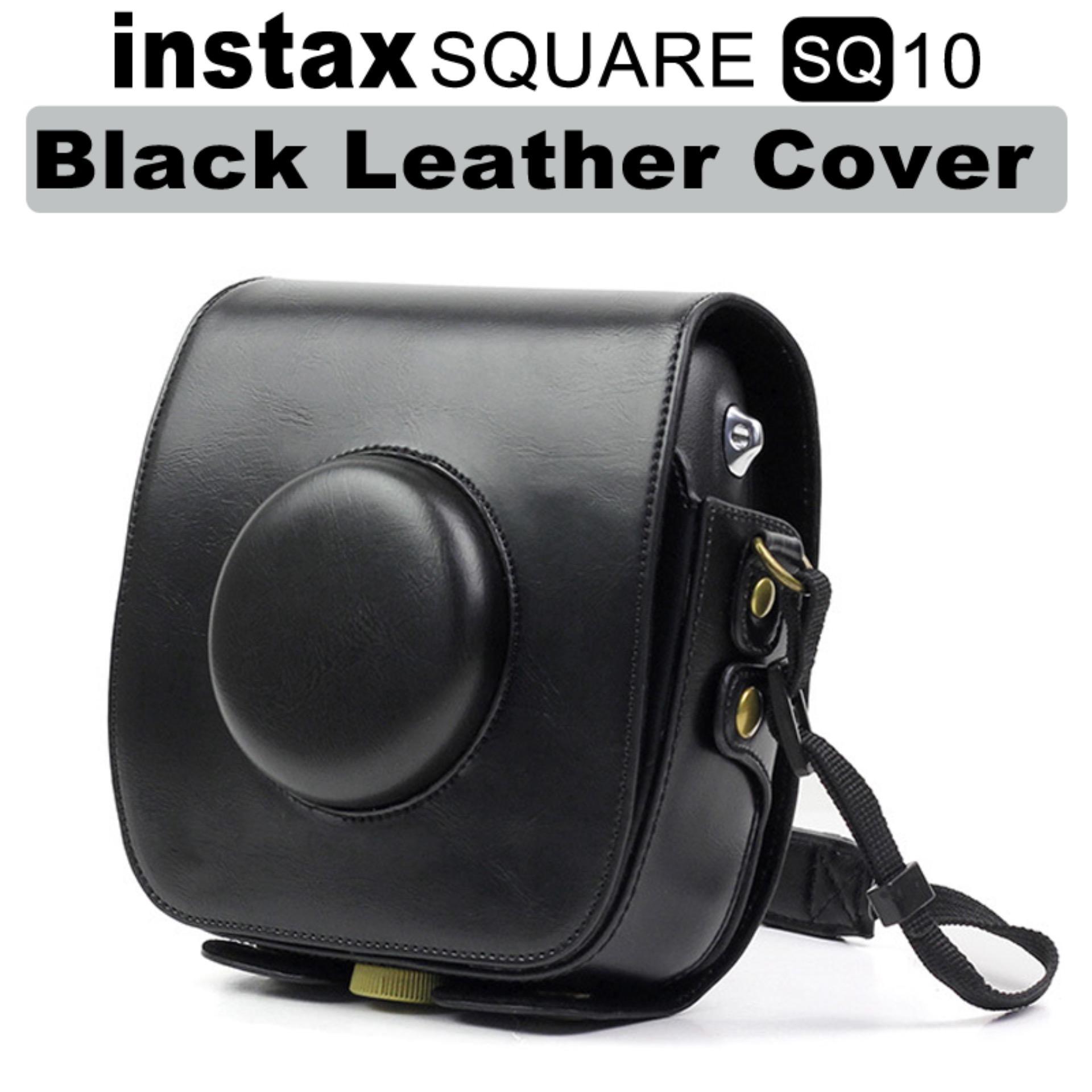 Fujifilm Instax Square SQ 10 Black Leather Cover Bag