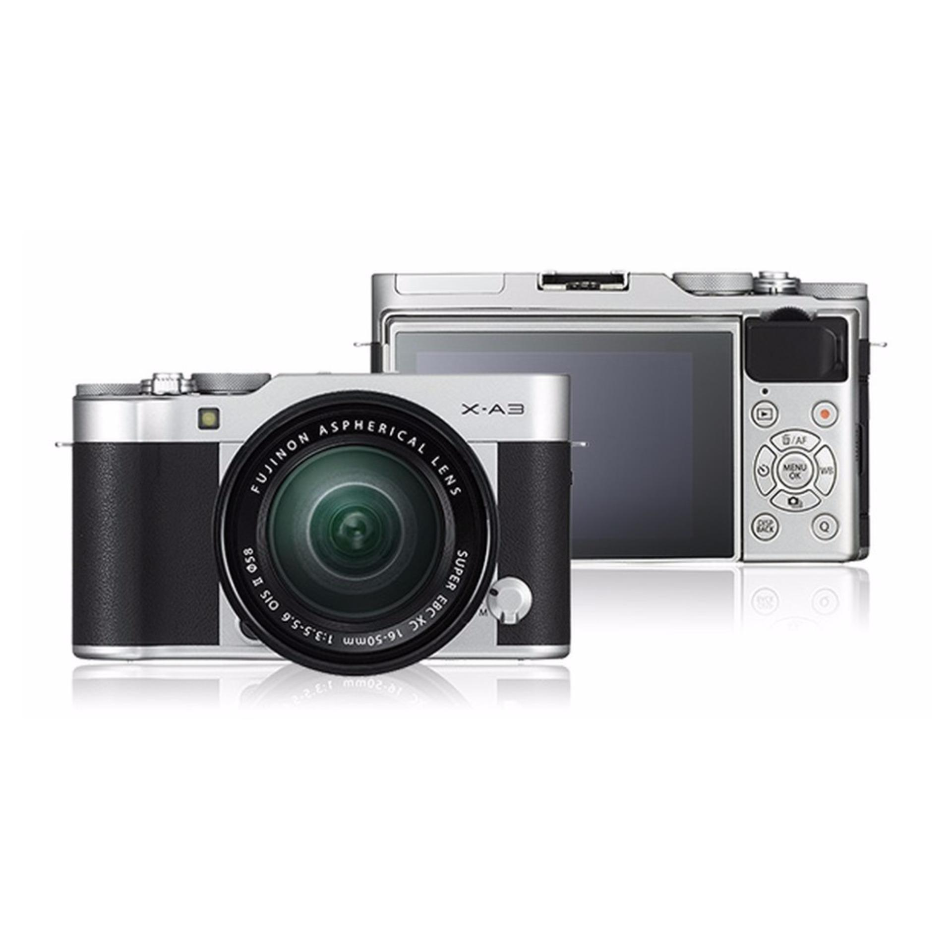 Fujifilm X-A3 24.2 MP Mirrorless Camera XC16-50mm F3.5-5.6 II Lens Kit (Silver) export(Silver)