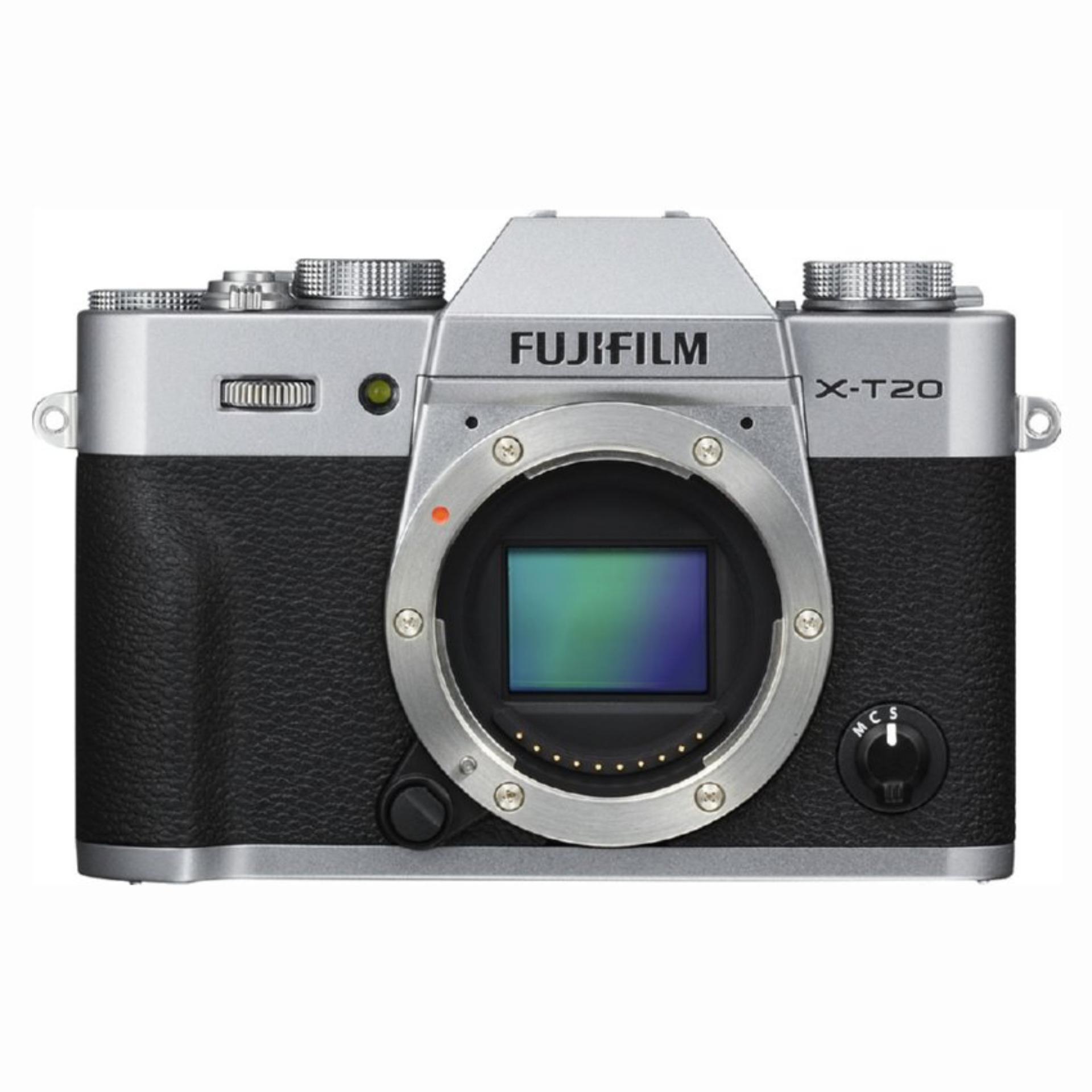 Fujifilm X-T20 Mirrorless Digital Camera Body Only (Silver)
