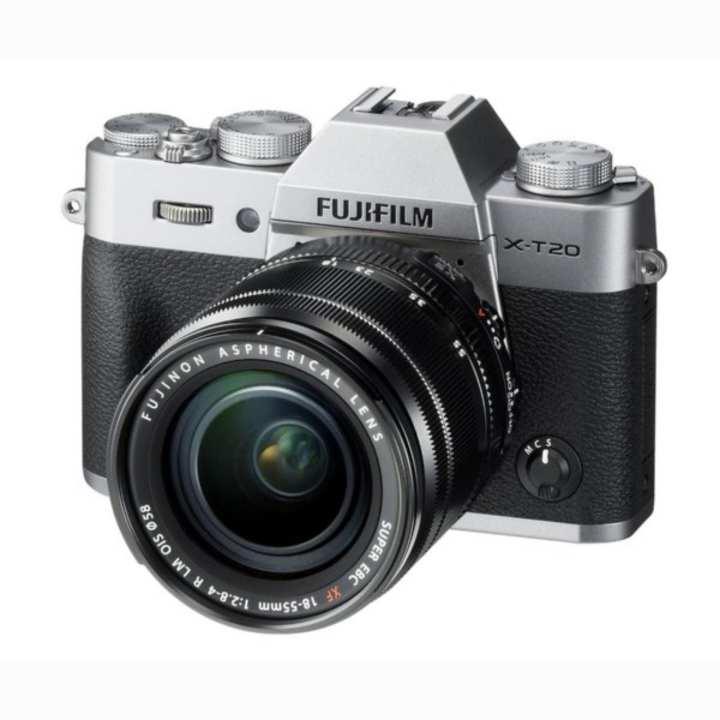 Fujifilm X-T20 (Silver) Mirrorless Digital Camera + Fujinon XF 18-55mm Lens