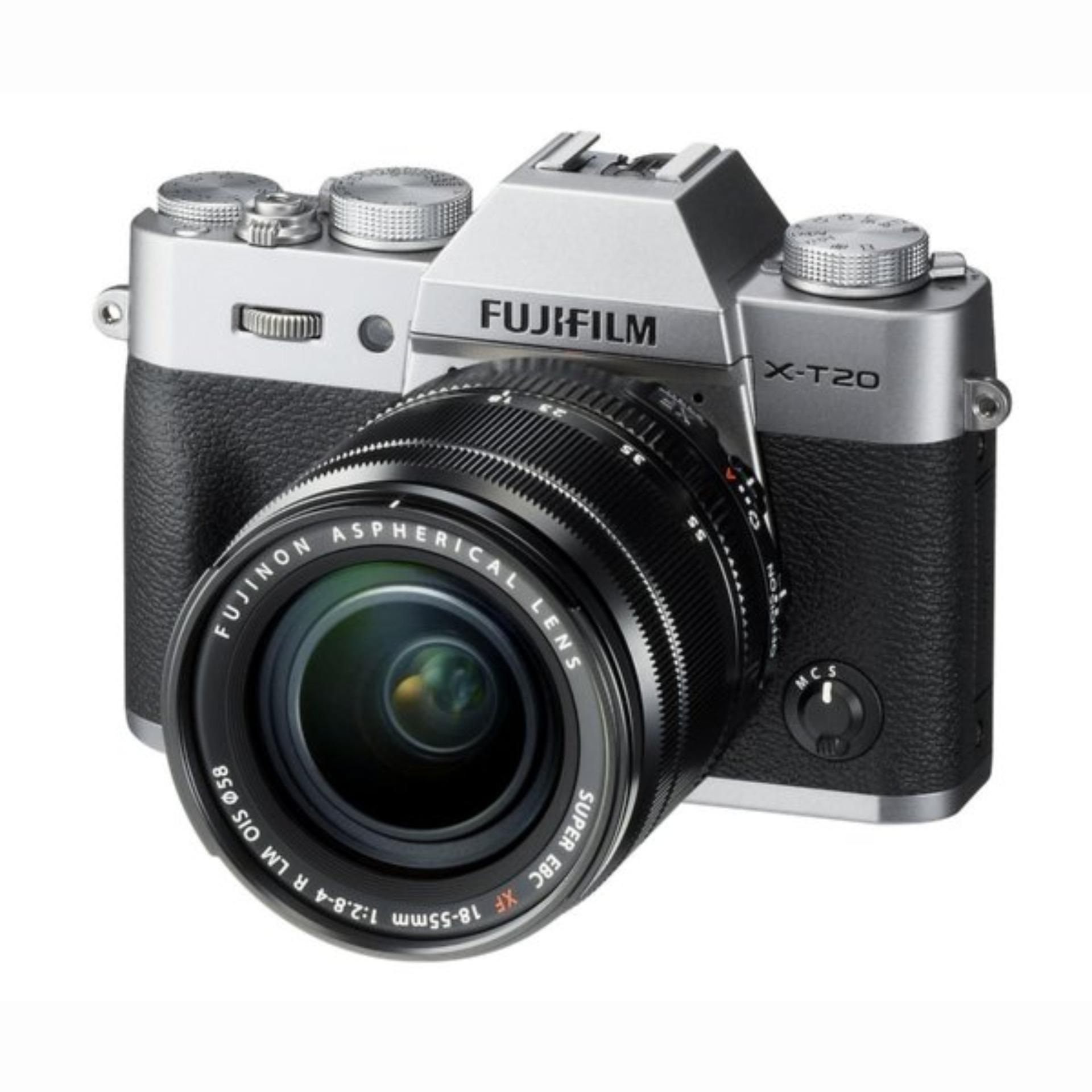 Fujifilm X-T20 (Silver) Mirrorless Digital Camera + Fujinon XF 18-55mm Lens