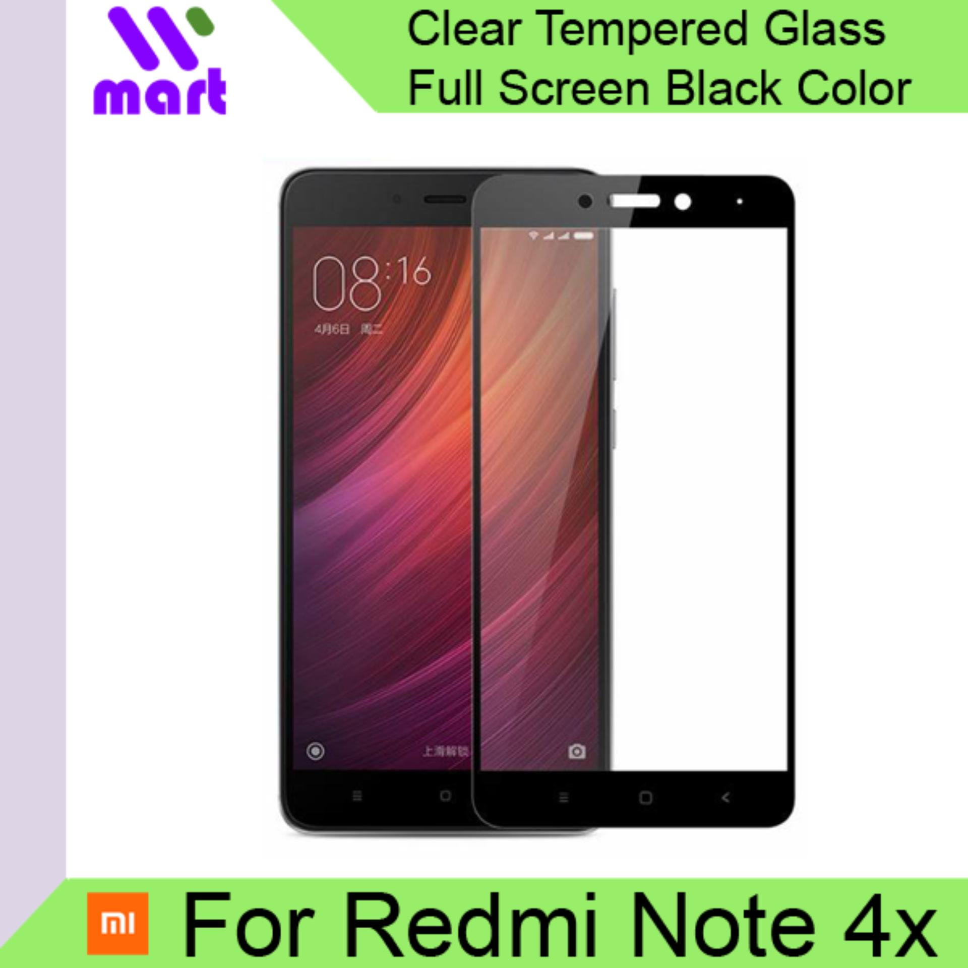 Full Screen Tempered Glass Screen Protector (Black) For Xiaomi Redmi Note 4x