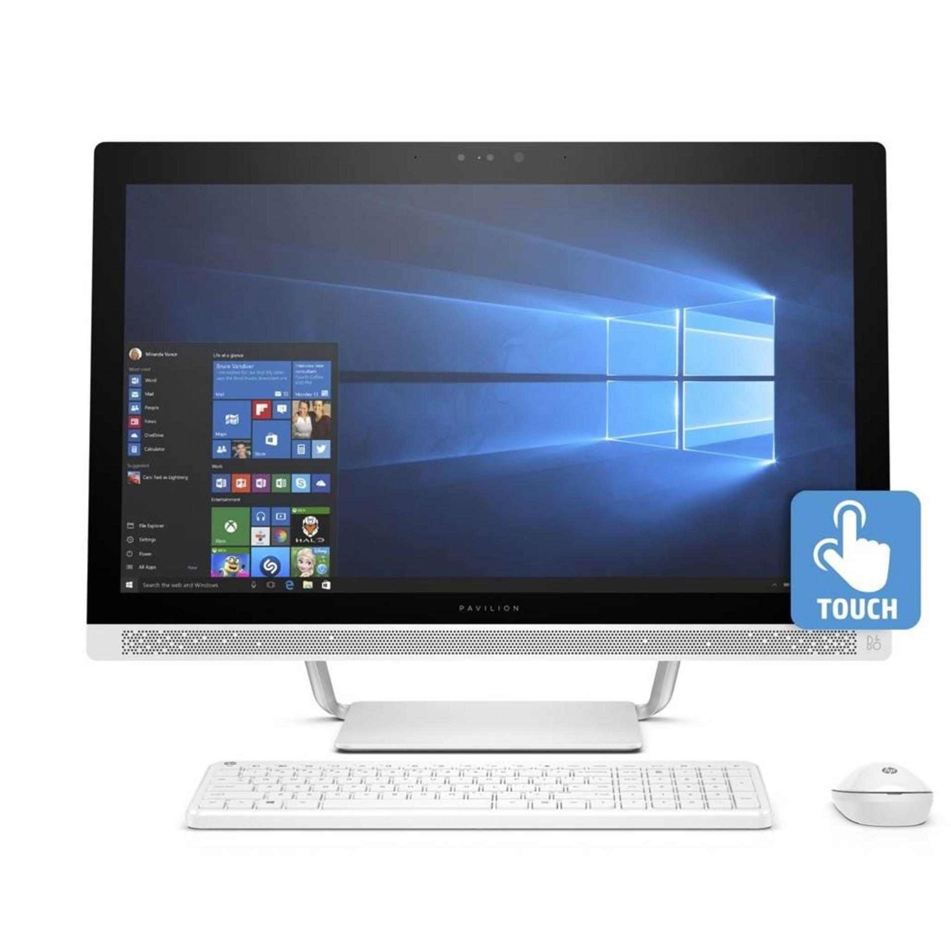 HP 27-a276d Pavilion Touch AIO i7-7700T Processor Windows 10 16GB Ram/ 2TB HDD Nvidia GeForce 930MX 4GB GDDR5 27.0 FHD WLED 1920×1080 Wireless Keyboard and Mouse