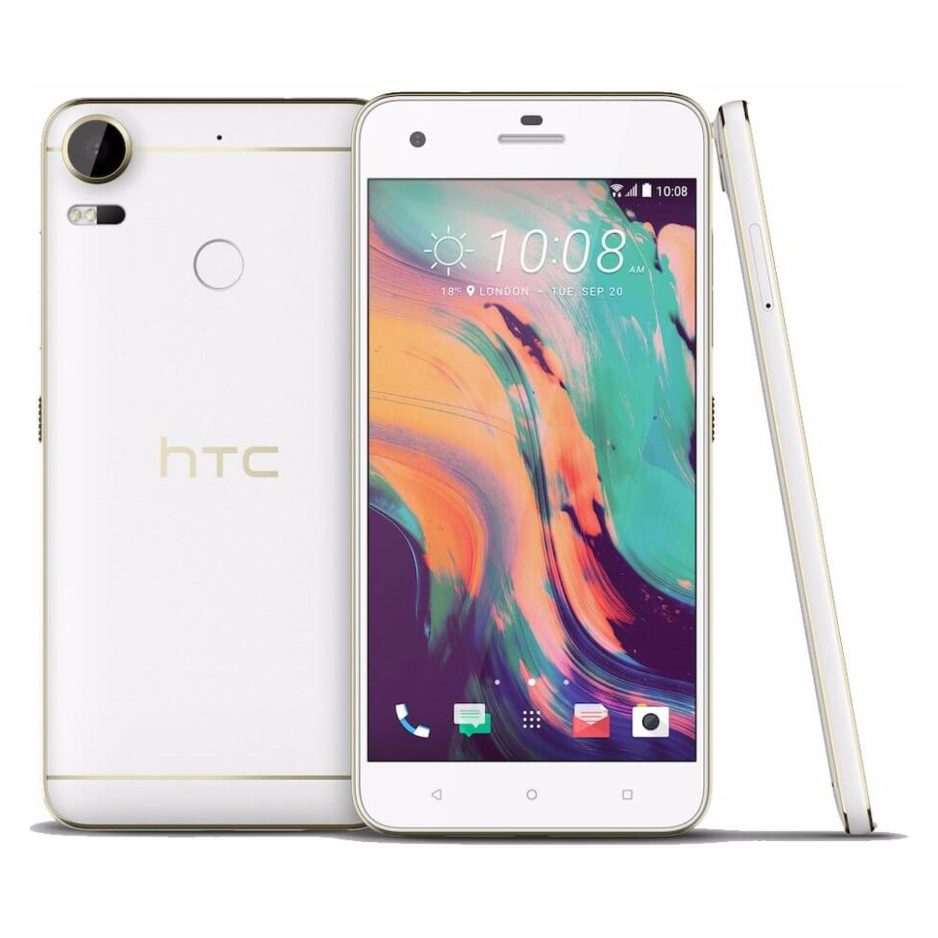 HTC Desire 10 Pro 4G 5.5 Inch 20MP 64GB (White) – Local Set with 1 year Warranty