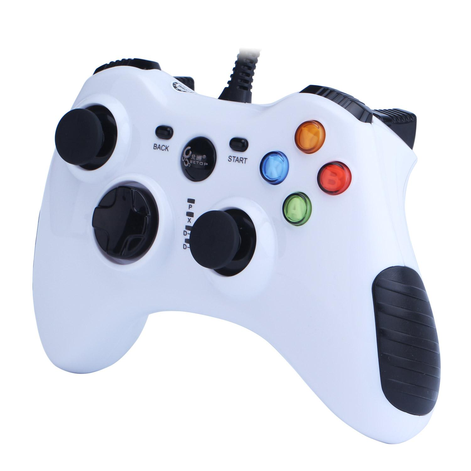 huohu Wired Game Controller for PC(Windows XP/7/8/10) Android Devices (White)
