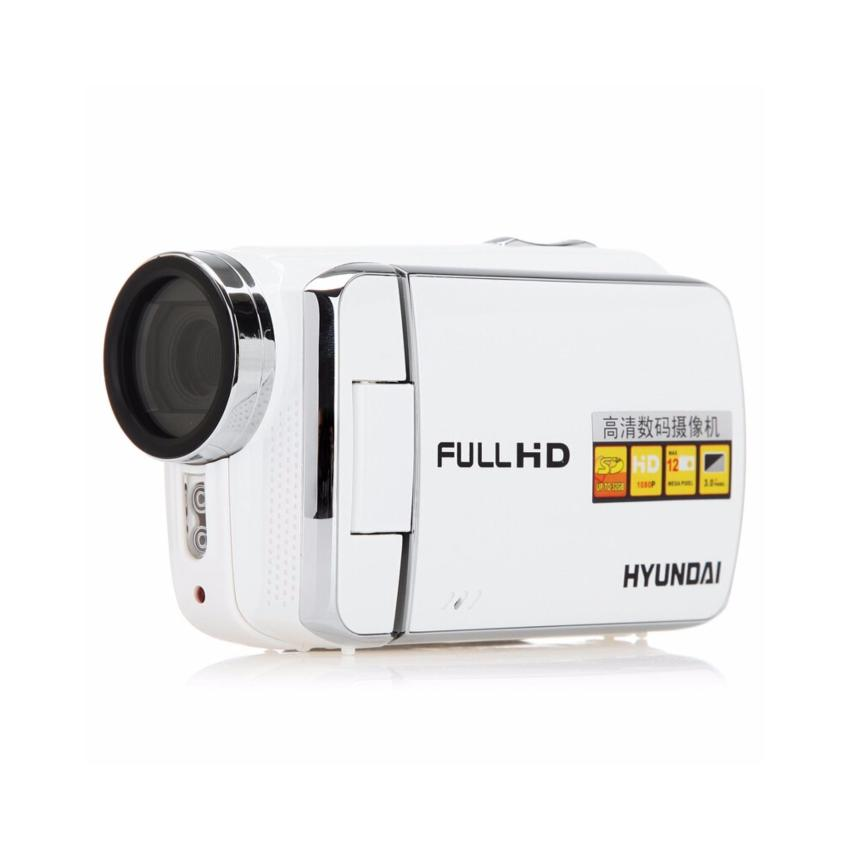 Hydundai HDV-Z600 Portable Mini Handheld Camcorder DV Handycam Digital Video Camera 1080p HD 1920×1080 12.0 Mp max with 16:9 3″ TFT Screen 4X Digital Zoom(Pearl White)