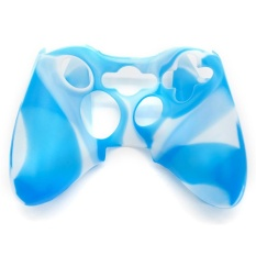 iBelieve Silicon Protective Skin Case Cover for Xbox 360 Game Controller (White+Blue) – intl