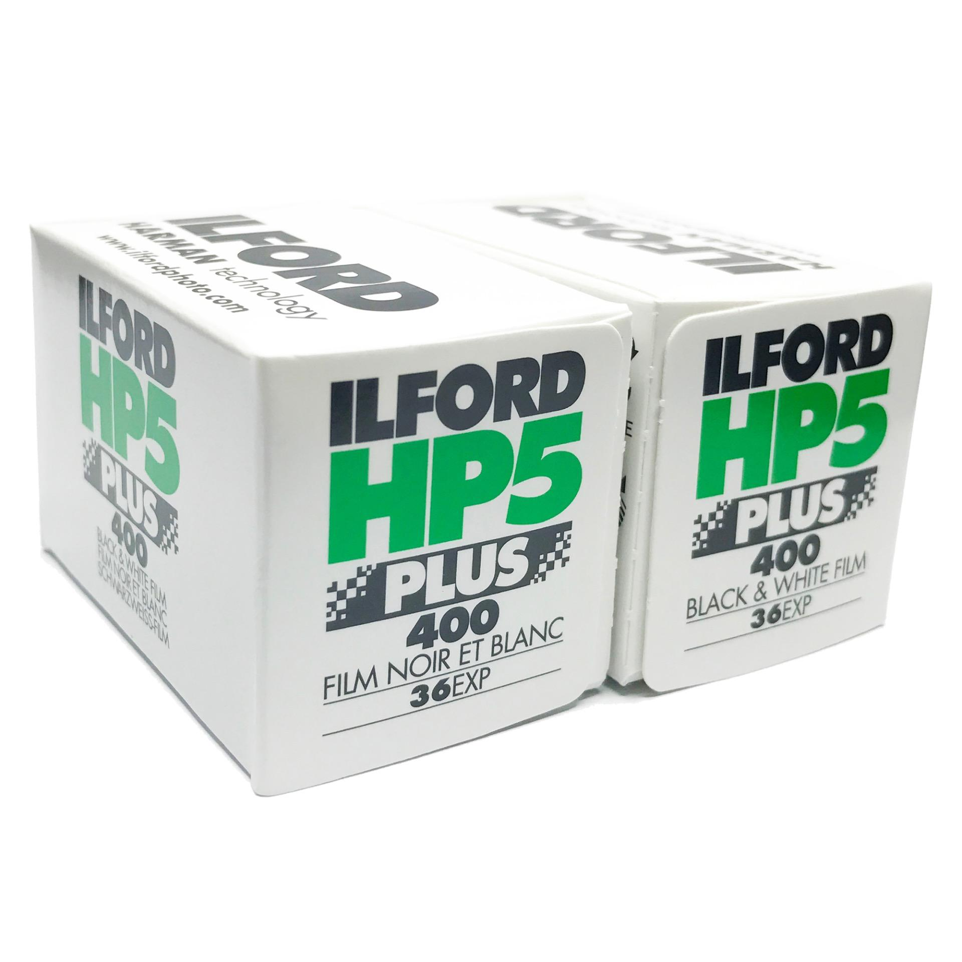 Ilford HP5 Plus Black and White Negative Film X 2 Rolls (35mm Roll Film, 36 Exposures)