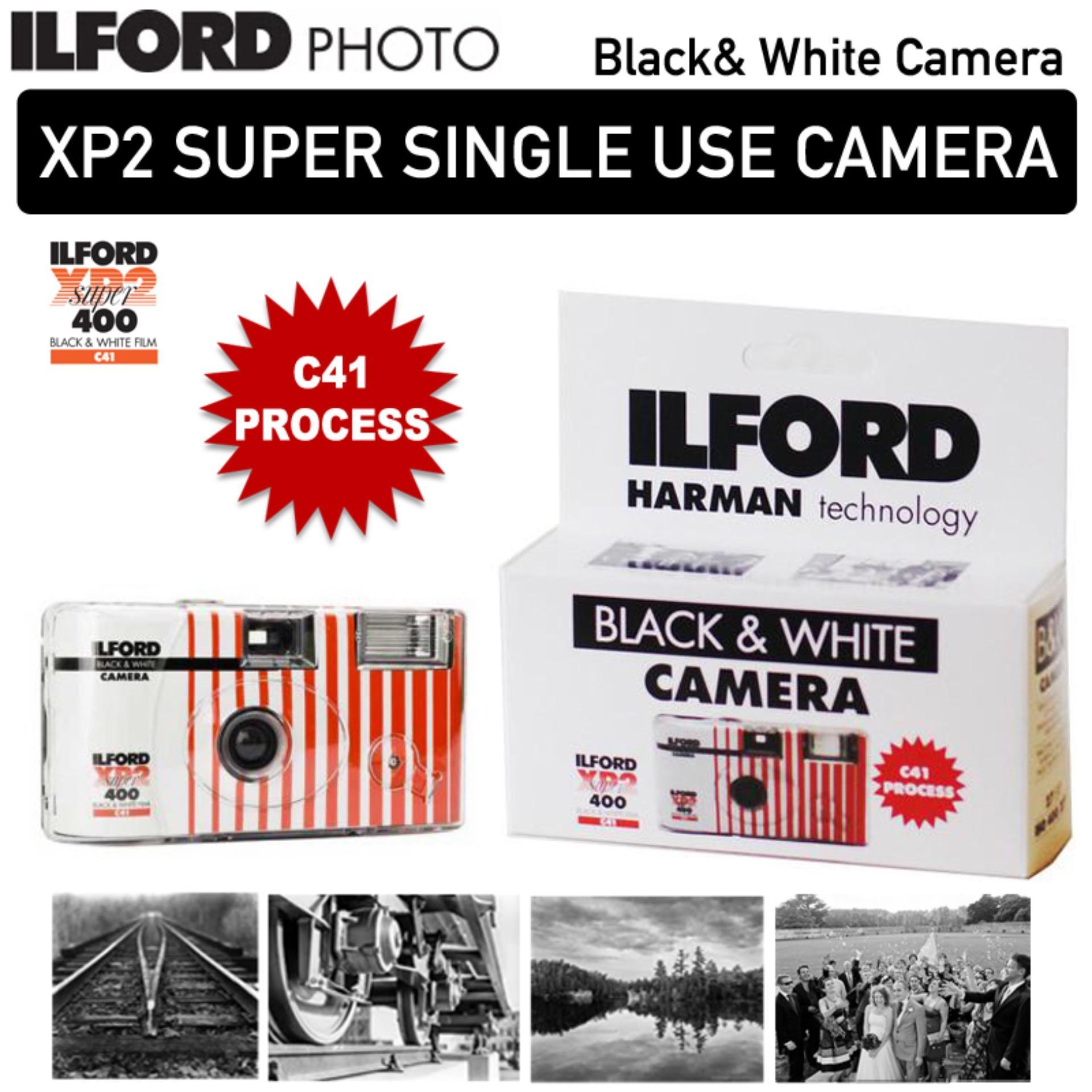 ILFORD XP2 SUPER SINGLE USE DISPOSABLE BlACK AND WHITE CAMERA