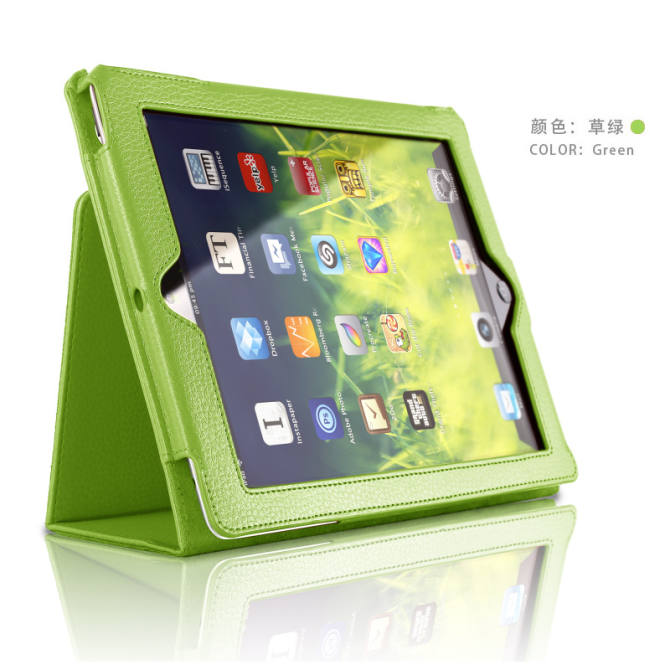 IPA pad4/iapd2/pad3/a1458 thin ipad2 with leather cover protective case
