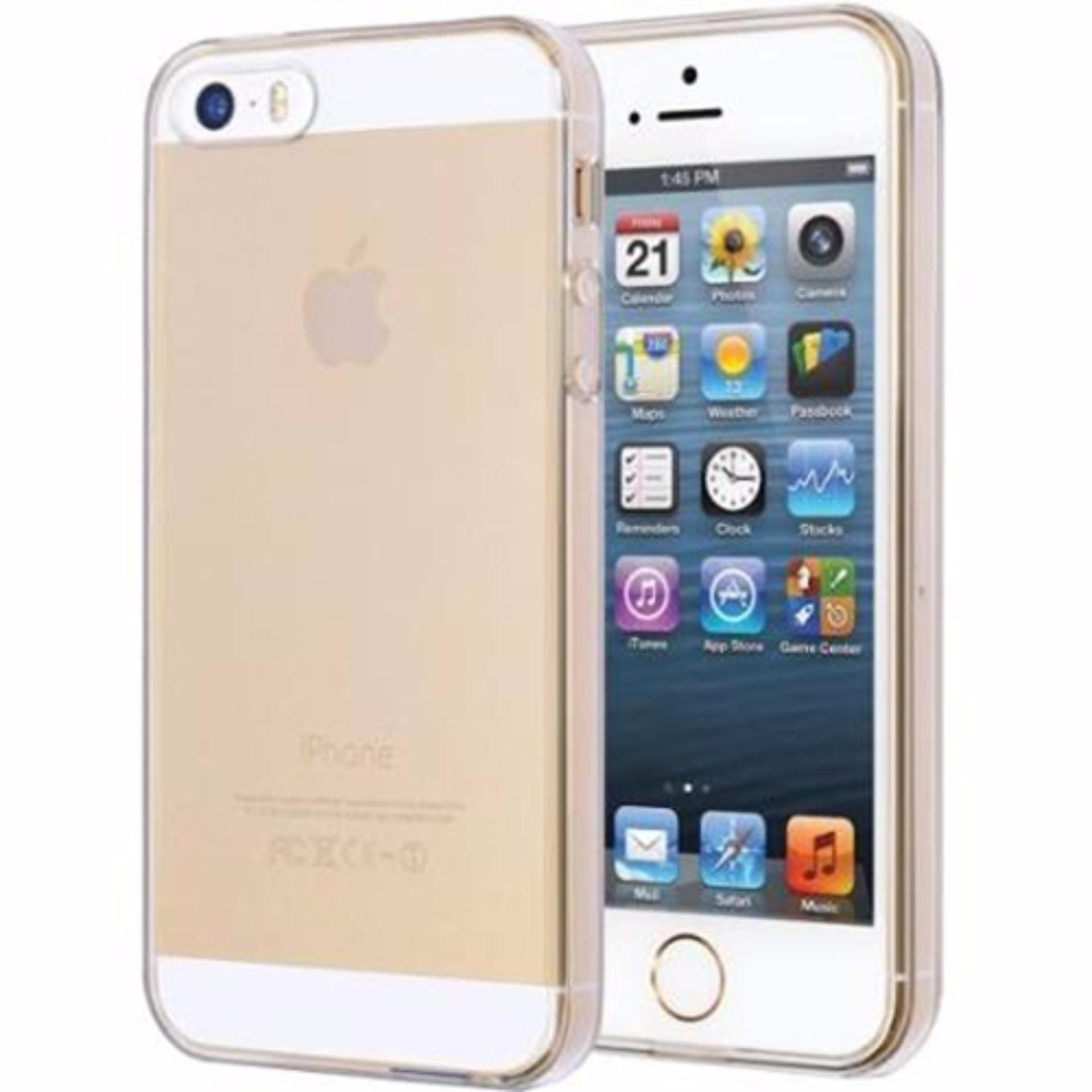 iPhone 5 / 5S / SE Ultra Thin Transparent Crystal Clear TPU Silicone Case Casing Cover