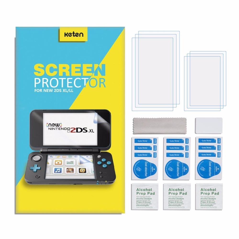 Keten 6 Packs Full Coverage High Definition Anti-scratch Ultra-thin Sensitive-Touch Nintendo NEW 2DS XL Screen Protector - intl