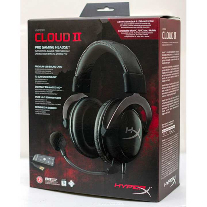 Kingston HyperX Cloud II Headset (Gunmetal) HyperX Cloud II Pro Gaming Headset Black (KHX-HSCP-GM)