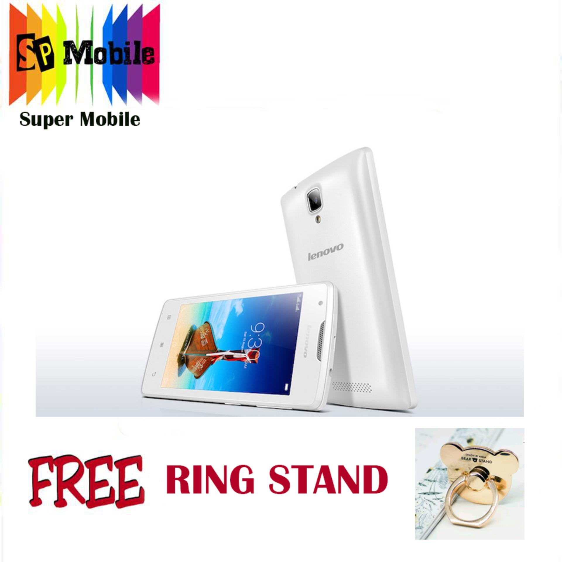 Lenovo A1000 8GB (BLACK&WHITE) FREE RING STAND