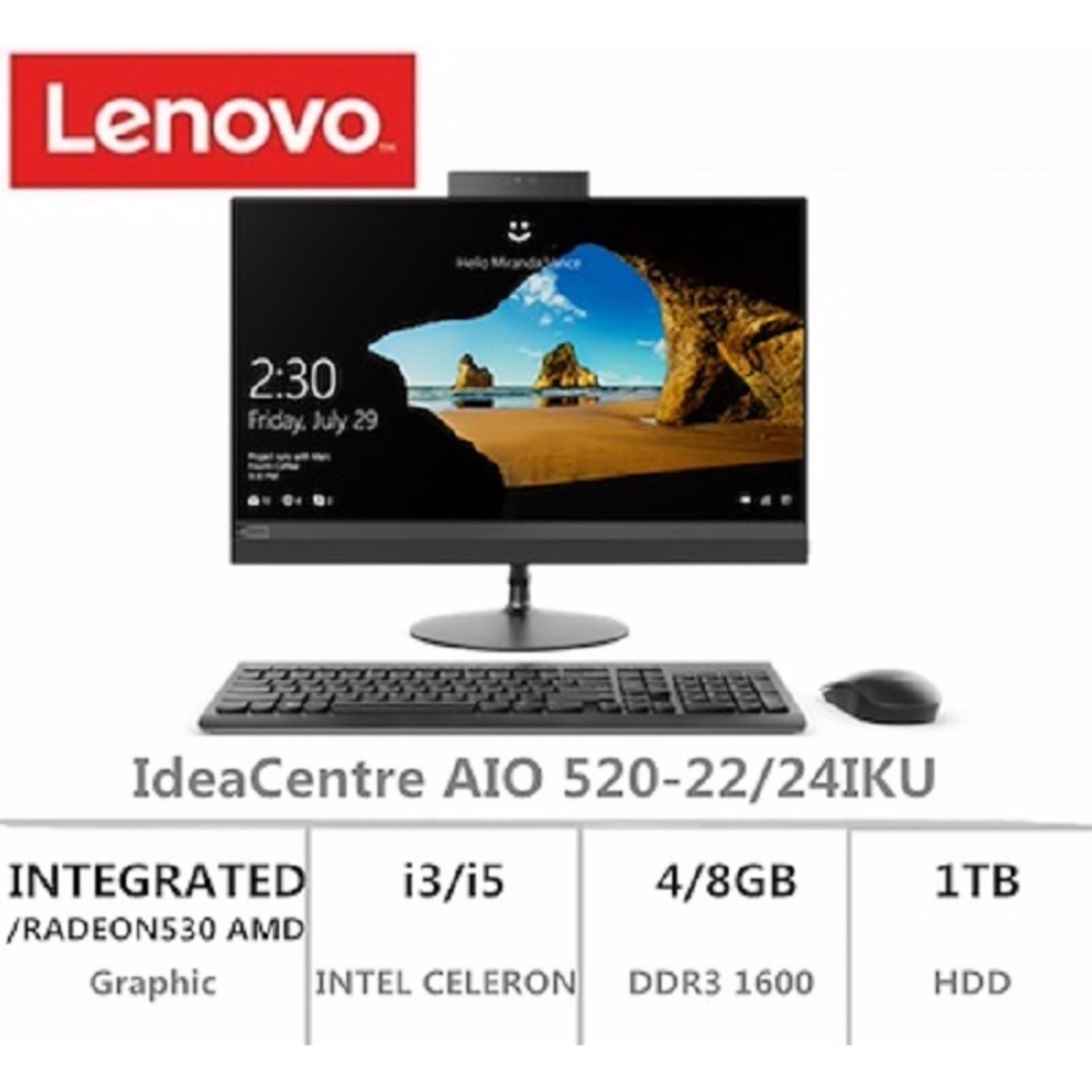 LENOVO Ideacentre Aio 520 F0D5002DST INTEL CORE I3-6006U 4GB RAM 1TB HDD INTEGRATED GRAPHIC 21.5 INCH FHD WINDOWS 10 HOME