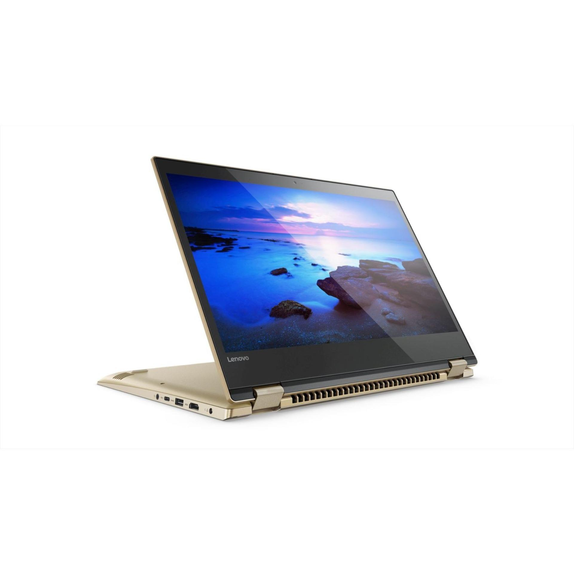 LENOVO IdeaPad YOGA 520-14IKBR: 14.0 FHD IPS AG TOUCH(SLIM) INTEL® CORE™ i5-8250U PROCESSOR Graphic: NVIDIA® GEFORCE® GT 940MX (2GB GDDR5) 1TB 7MM 5400RPM / 128G M.2 PCIE / 8G(1X8GBDDR4 WINDOW 10 HOME / GOLD METALLIC