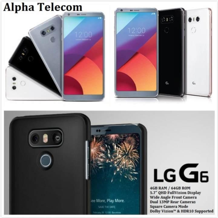 LG G6 Dual Sim (4GB/64GB) – BLACK (LOCAL)