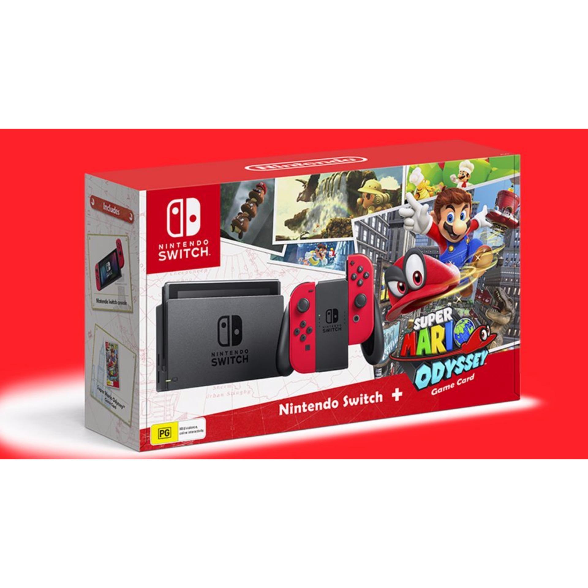 [Local 12 months Warranty] Nintendo Switch Mario Odyssey Game Console Bundle
