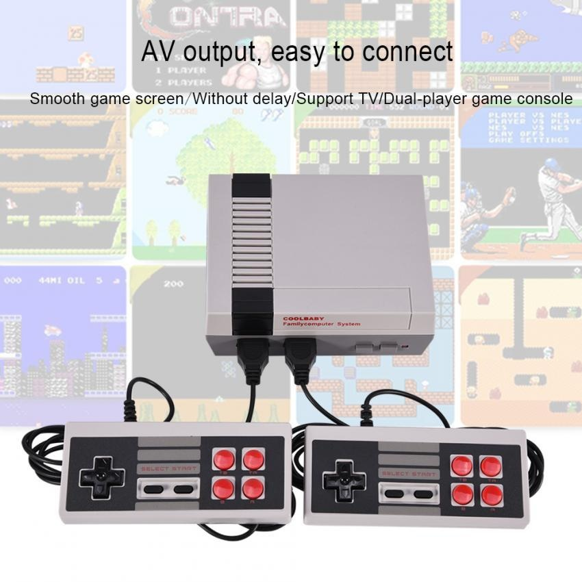 Mini HDMI TV Dual Joysticks Fighting Game Console Built-in 500 Classic Games for NES US Plug – intl