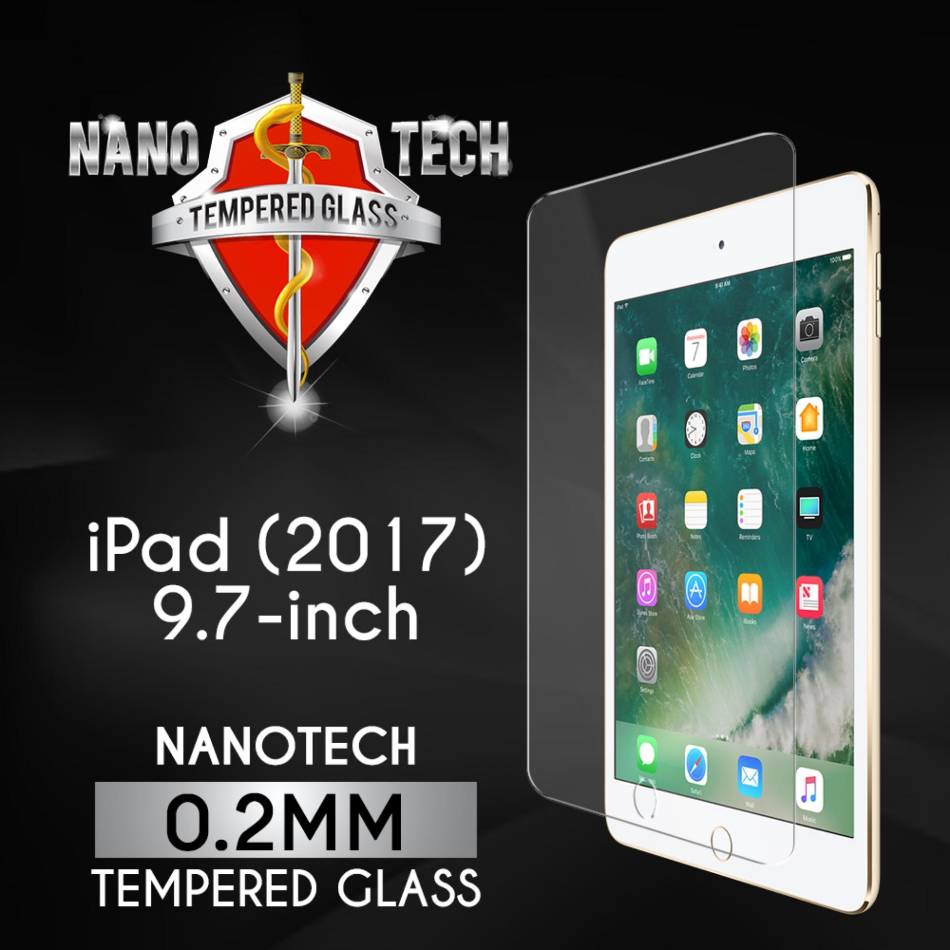 Nanotech iPad (2017/2018) 9.7″ Tempered Glass Screen Protector [0.2MM][Full Coverage]