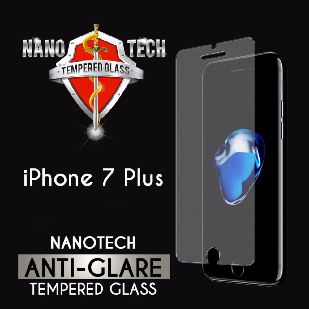 Nanotech iPhone 7 Plus/8 Plus Matte Anti-Glare Tempered Glass Screen Protector [Non-full Coverage]