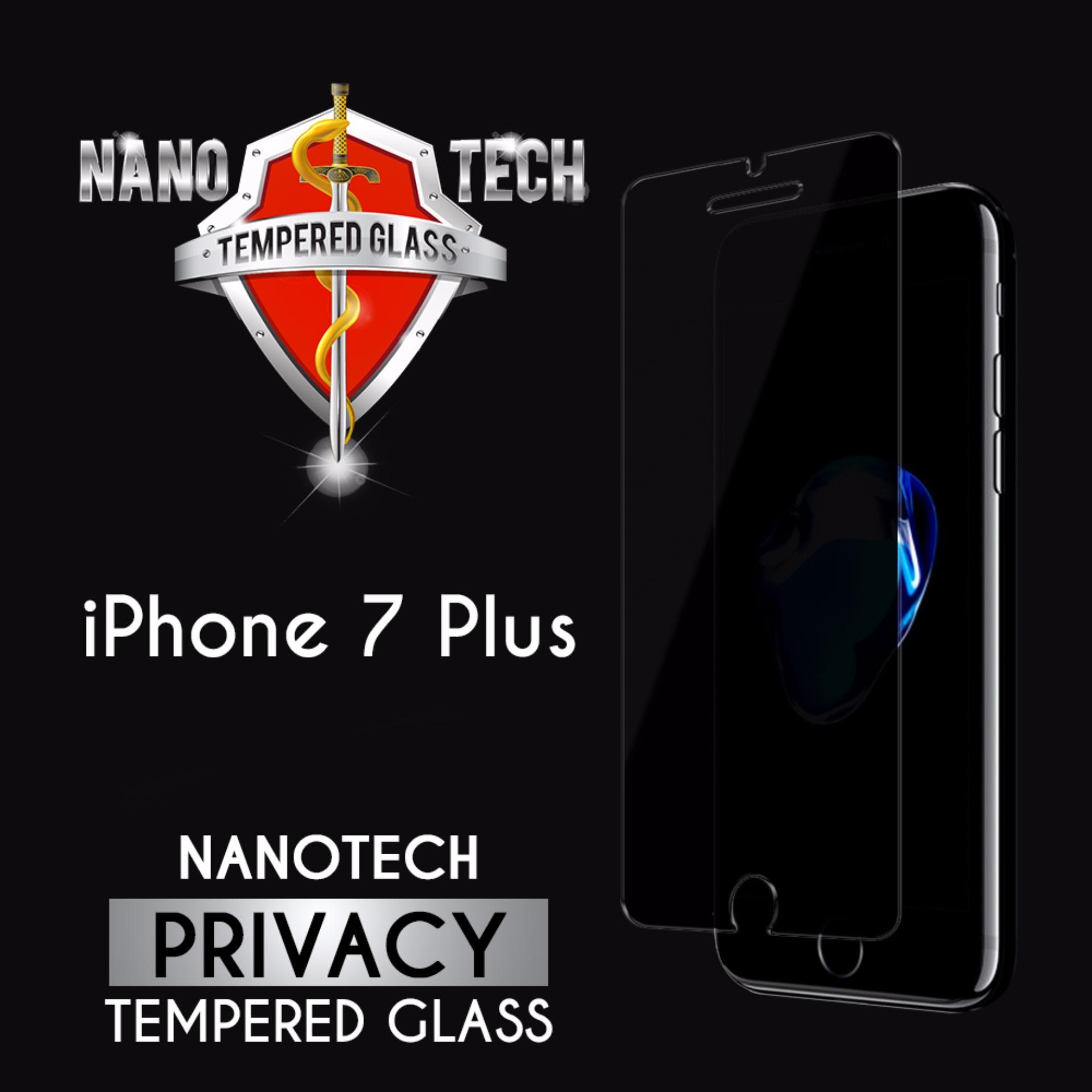 Nanotech iPhone 7 Plus/8 Plus Privacy Tempered Glass Screen Protector [Non-full Coverage][2-Way Privacy]