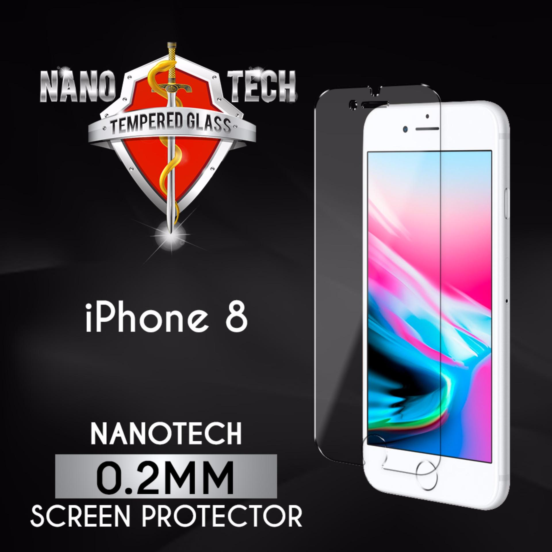 [Buy1Free1] Nanotech iPhone 8/7 Tempered Glass Screen Protector [0.2MM][Non-full Coverage]